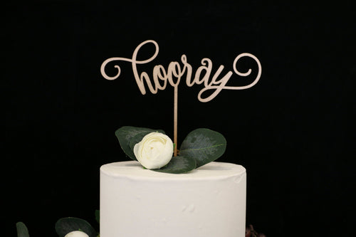 Hooray Wedding Cake Topper