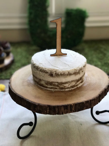 Number Birthday Cake Topper, Smash Cake Topper
