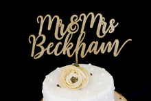 Load image into Gallery viewer, Custom  Mr and Mrs  Wedding Cake Topper