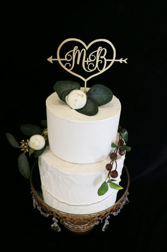 Custom Initial Wedding Cake Topper