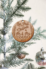 Load image into Gallery viewer, Custom Mr & Mrs Last Name Ornament