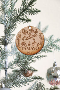 Custom Mr & Mrs Last Name Ornament
