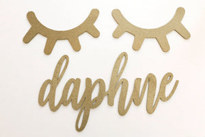 "20""- Laser Cut Name Sign / Custom Wood Name 1/4"" Thick  / Wall Sign / Nursery Name Sign / Baby Decor / Wedding Name Sign"
