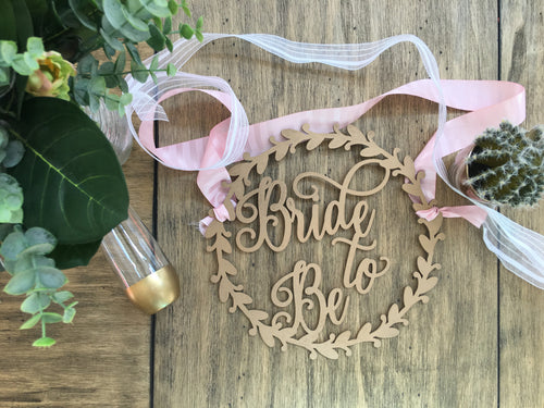Bride To Be Wood Chair Sign- 11
