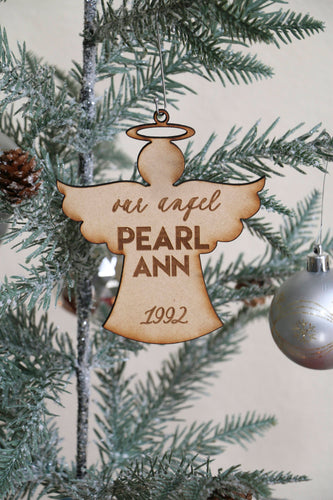 Custom Angel Name Ornament