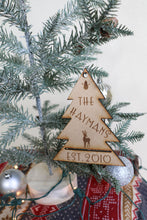 Load image into Gallery viewer, Custom Family Name Christmas Tree Ornament