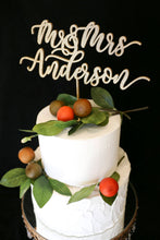 Load image into Gallery viewer, Custom Calligraphy Wedding Cake Topper