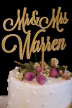Load image into Gallery viewer, Custom Mr and Mrs Wedding Cake Topper-Gold