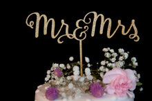 Load image into Gallery viewer, Mr and Mrs Calligraphy Wedding Cake Topper