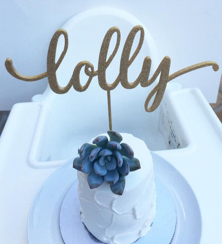 Custom Single Name Birthday Topper