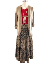 Load image into Gallery viewer, Tiered Floral Maxi Skirt and Chunky Knit Cardigan