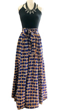 Load image into Gallery viewer, Geometric One Size Smocked Maxi Skirt