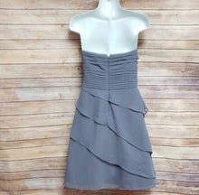 Load image into Gallery viewer, Slate Strapless Ruffled Dress