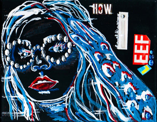 """How I Feel"" Lizzo Bling Painting"