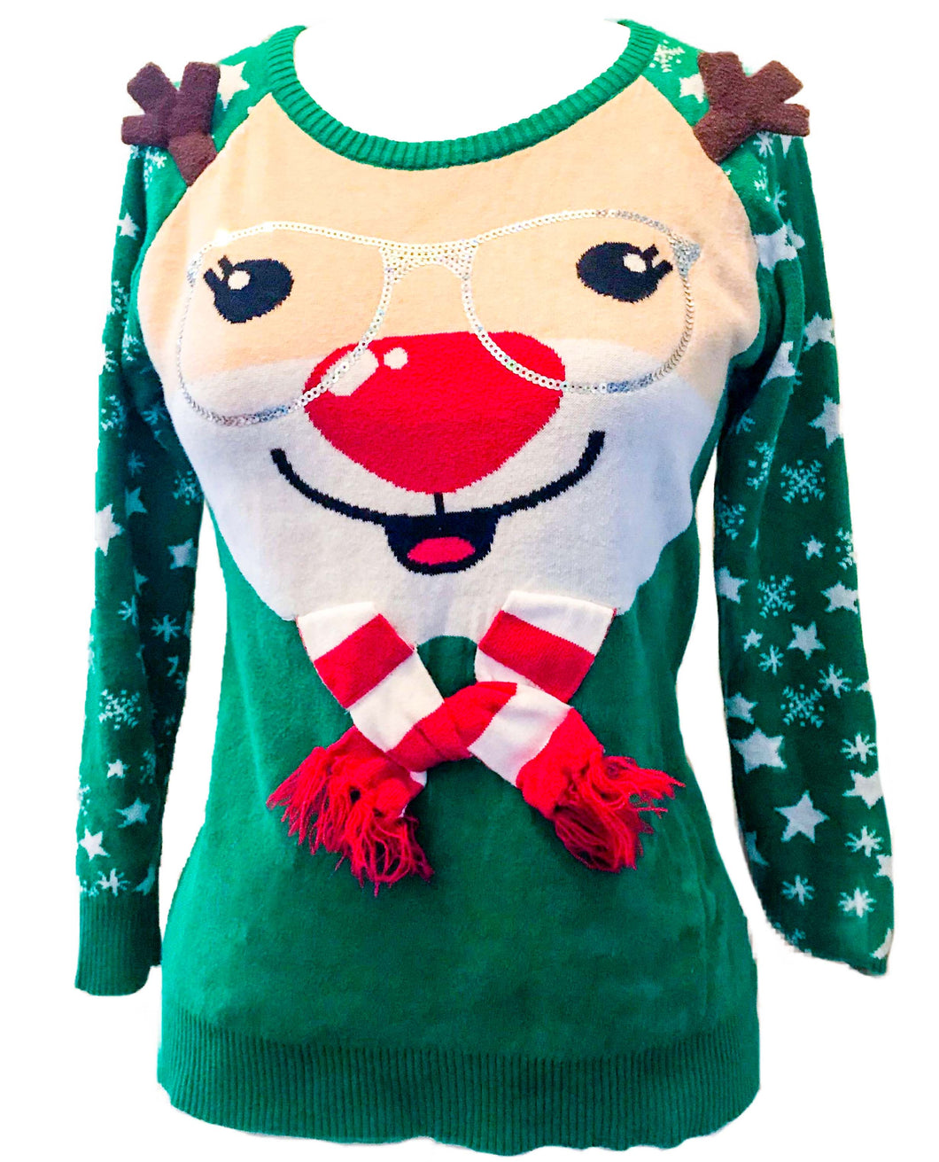 Nerdy Rudolph Ugly Christmas Sweater