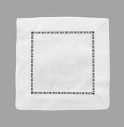 Classic Hemstitch Cocktail Napkins | Set of 12