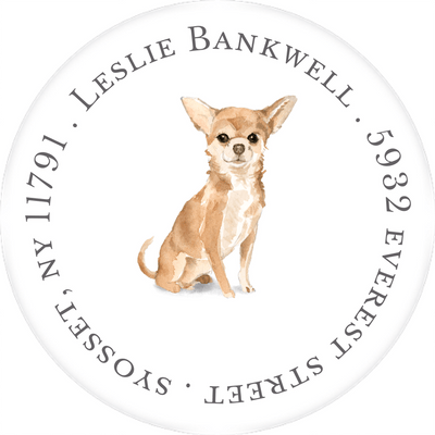 Best in Show Round Address Sticker