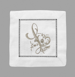 Single Letter Monogram Cocktail Napkin | Set of 12