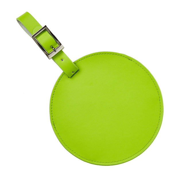 Color Circle Leather Luggage Tag