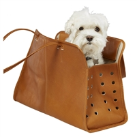 Leather Pampered Pet Carrier