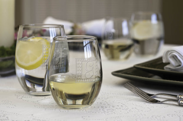 Set of 4 Stemless Wine Glasses