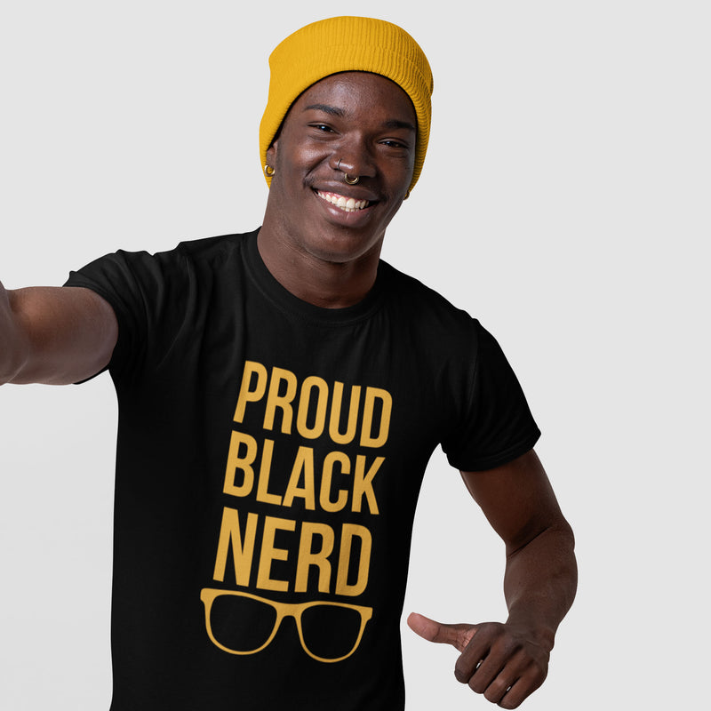 Unisex Proud Black Nerd Shirt - Limited Black Edition