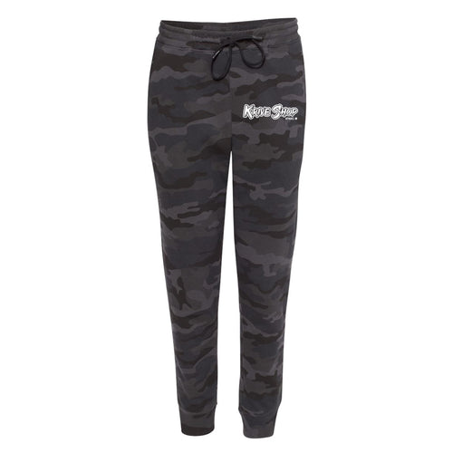 KRIVE Black/Camo Sweatpants - BLACK RACK