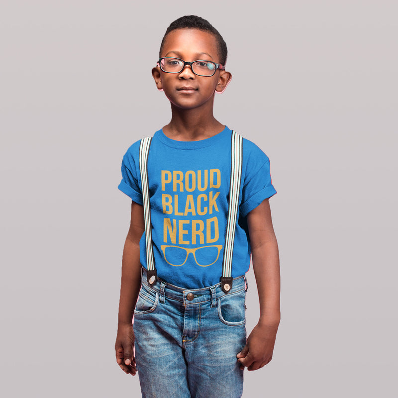 Kids Proud Black Nerd Shirt