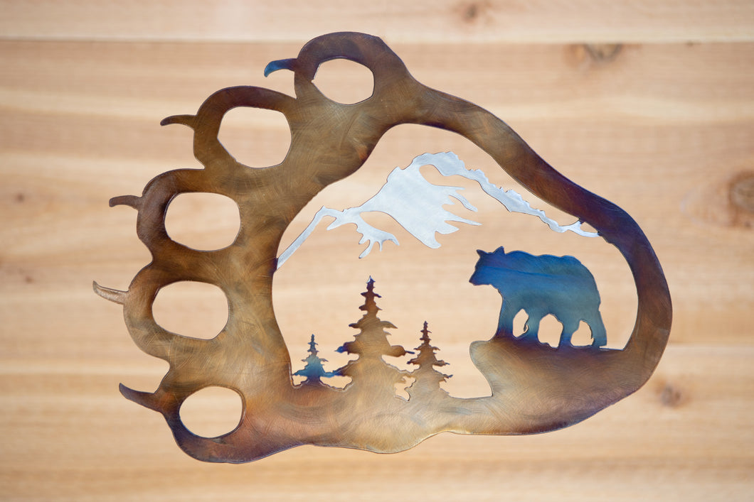 Bear Paw Mountain Scene - Metal Art
