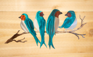 Birds on a Branch  - Metal Art