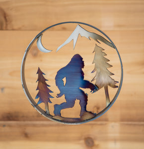 Bigfoot Forest Ring  - Metal Art