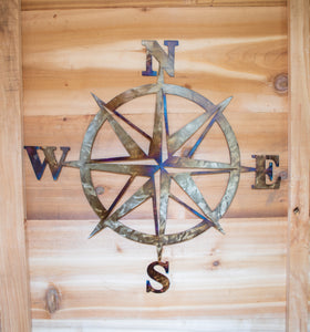 Compass Rose - Metal Art
