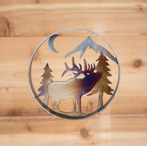 Elk Forest Ring  - Metal Art