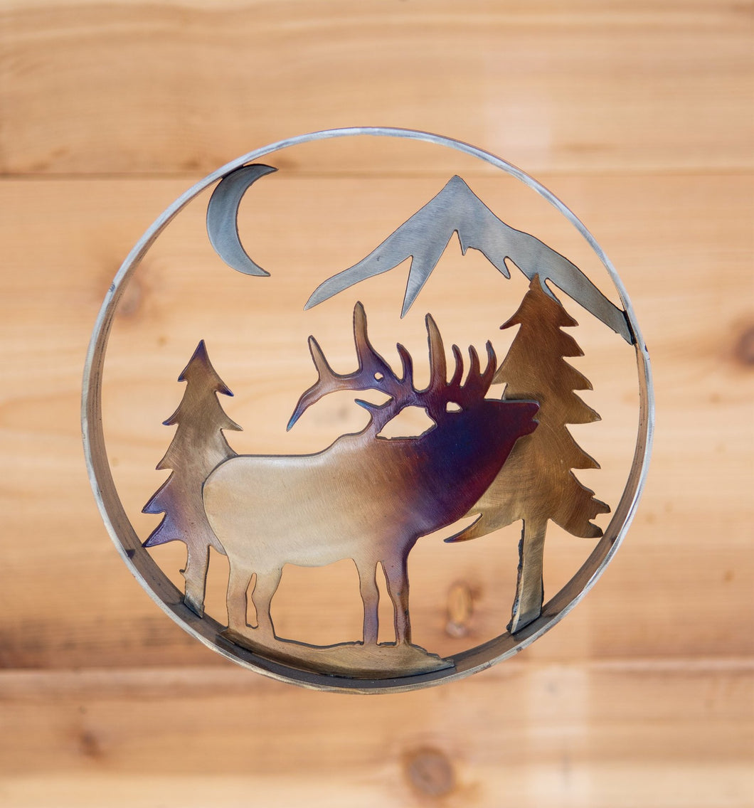 Elk Forest Ring - larger size - Metal Art