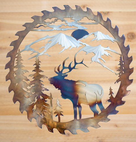 Elk Saw Blade -larger size- Metal Art