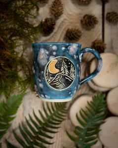 Galaxy Crescent Moon Mug