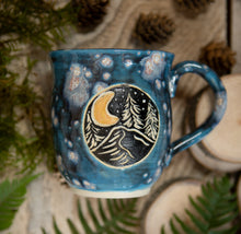 Load image into Gallery viewer, Galaxy Crescent Moon Mug