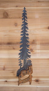 Tree Handsaw - Recycled Metal Art