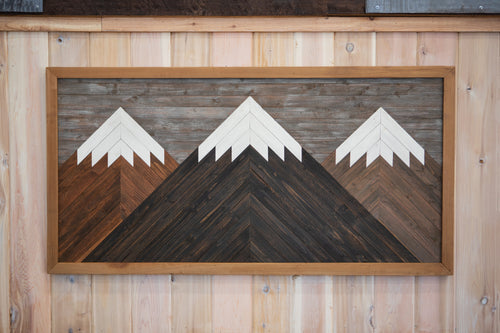 Cascade Mountain Range - Wood Art