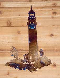 Lighthouse - Metal Art