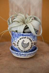 Farmhouse Hen Planter