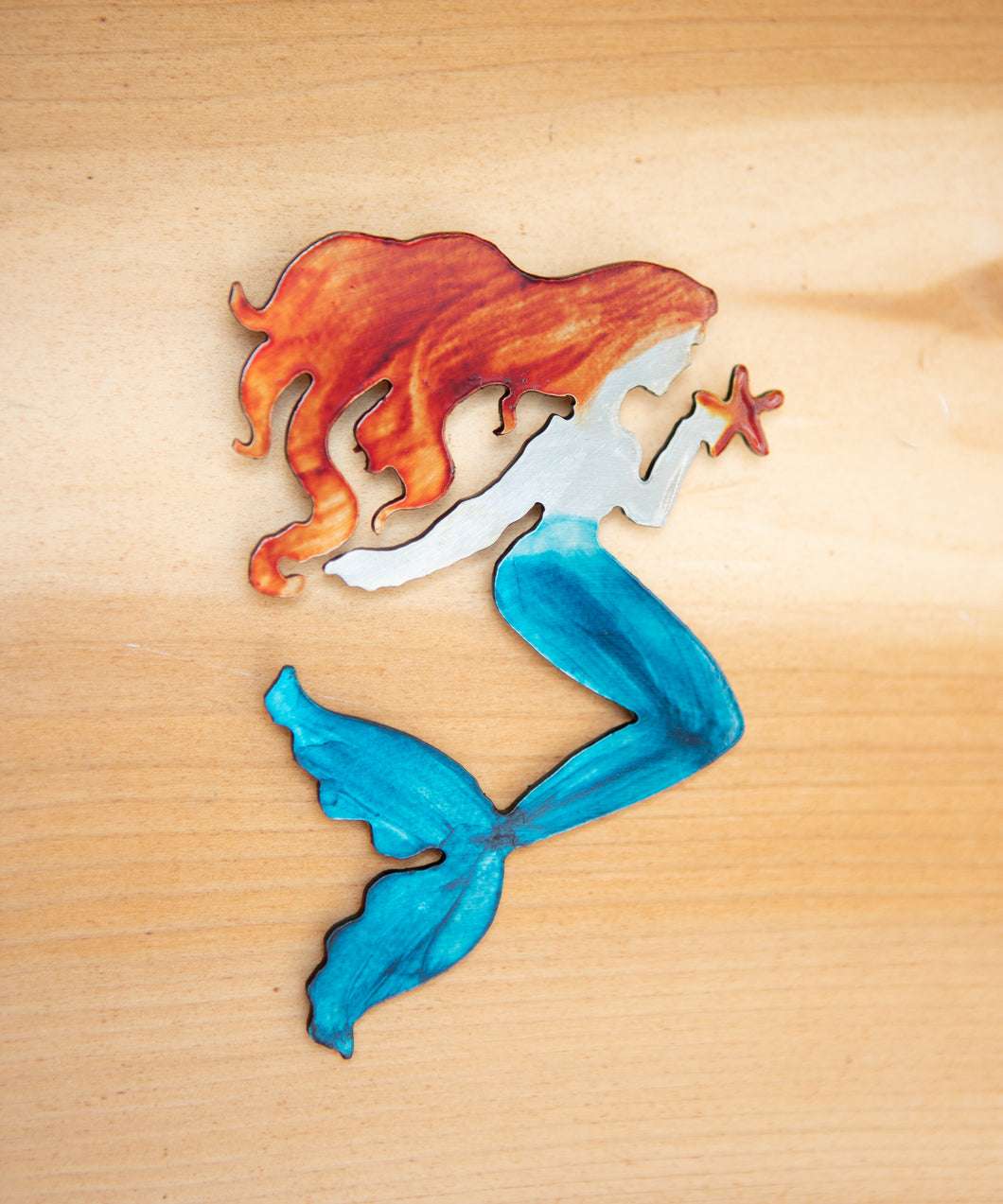 Mermaid Magnet - Metal Art