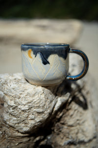 Moon Rise Mountain Range Ceramic Mug