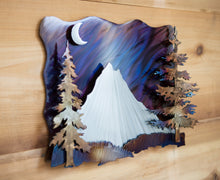 Load image into Gallery viewer, Mt. Hood 3-d Mountain Scene - Metal Art