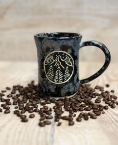 Midnight in the Mountains Mug - spotted black