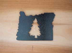 Oregon Tree Magnet - Metal Art