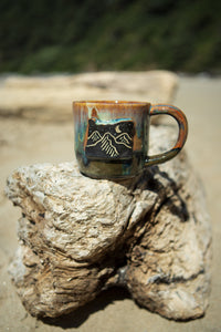Oregon Mountain Night Ceramic Mug