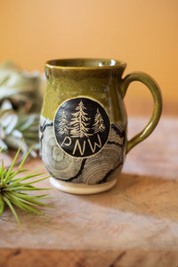 Pacific Northwest Wood Grain Mug