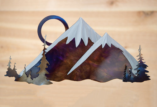 Cascade Mountain Scene- Metal Art