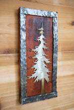 Load image into Gallery viewer, Forged Tree Wood Plaque  - Metal Art